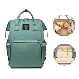 Sage Mommy Backpack with Handy Compartments